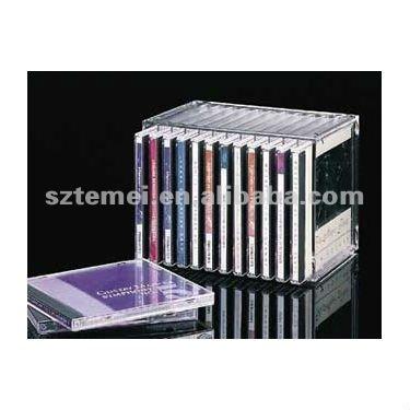 acryl stapelbar lagerung cd oder dvd display halter acryl. Black Bedroom Furniture Sets. Home Design Ideas
