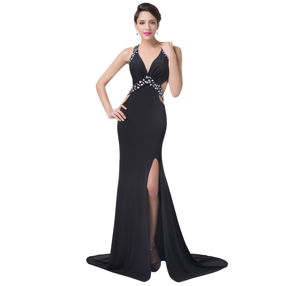 e5b925e8999 Get Quotations · New Arrival Grace Karin Long Sexy Black Cheap Evening  Dress Women Black Prom Party Dress evening