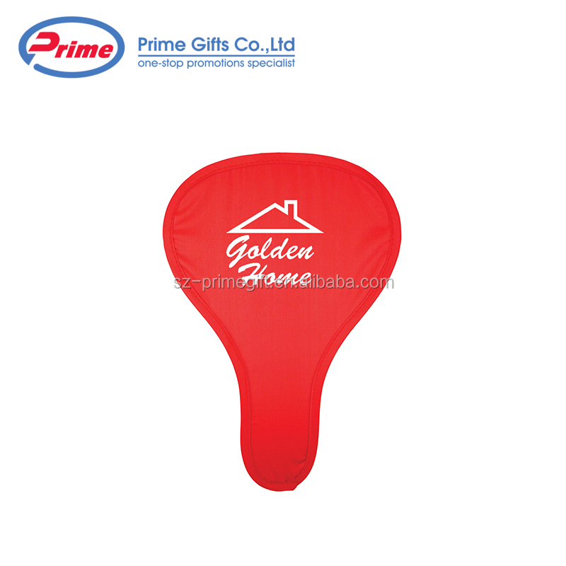 Customized Collapsible T Shape Polyester Fabric Hand Fan with Pouch