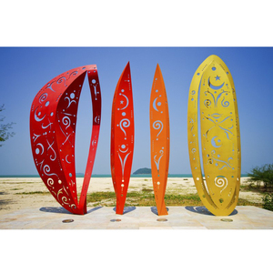 Outdoor decorative stainless steel sculpture