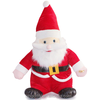 Handmade Wholesale Animated Christmas Santa Claus Doll Soft Plush