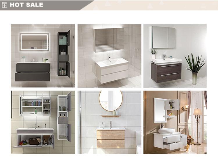 Bathroom cabinet combination mirror cabinet bathroom  wash basin of counter top cabinet solid wood european-style bathroom cabin