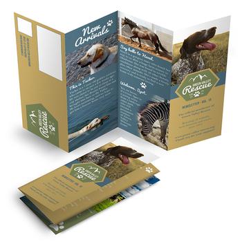 YZJ Four Folding Leaflets Printing Full Color Flyer Customized