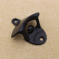 Factory price black wall mount bottle openers with screw custom made