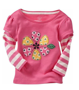 Made In China Top Quality 100% Cotton Kids long Sleeve T-shirt Appreal Wholesale Fashion Children Tshirt