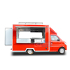 Stainless steel food truck ice cream cart hot dog truck for sale in United Arab Emirates