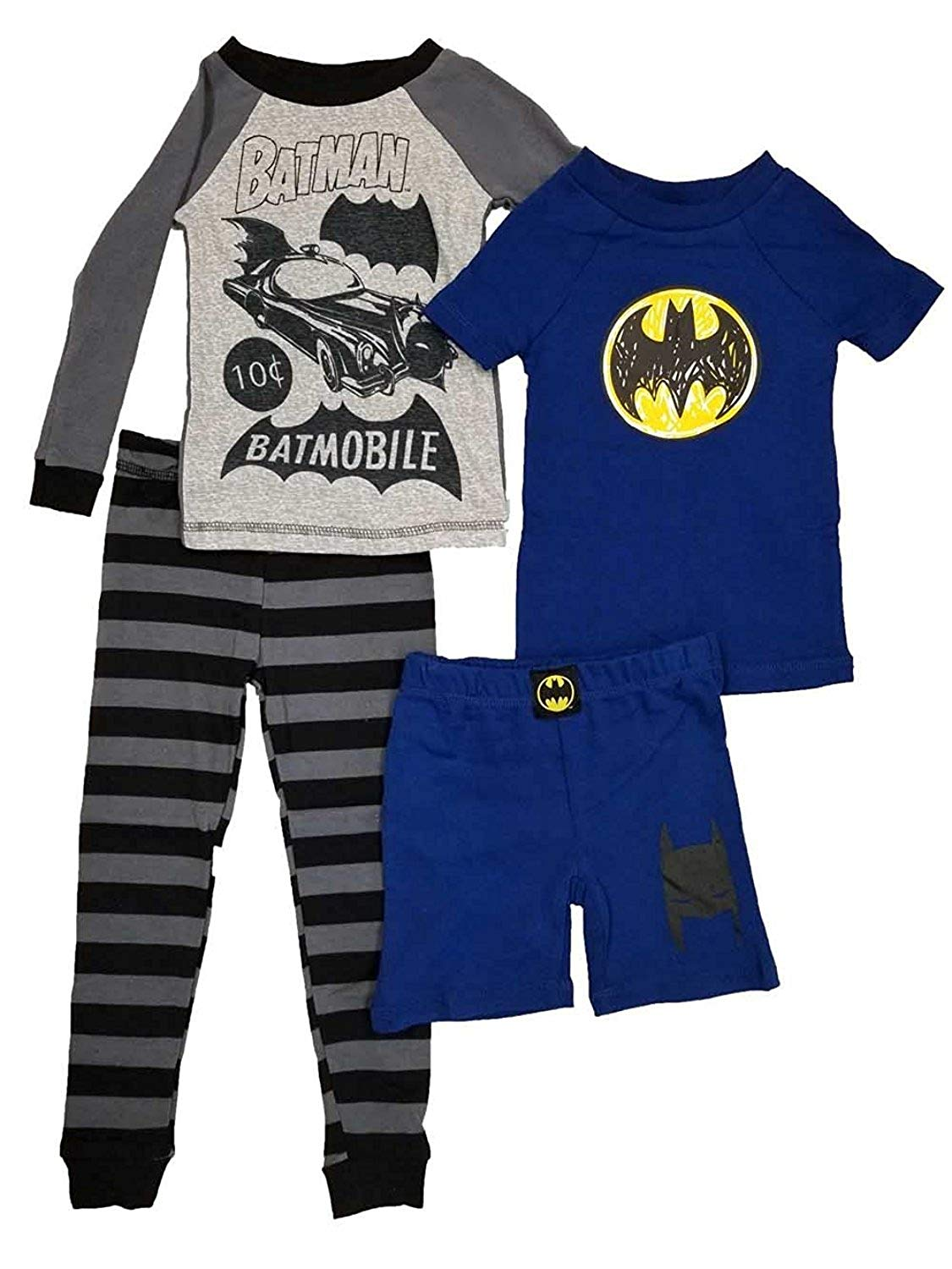 099956965ef1 Komar Kids Big Boys Batman 4 Piece Cotton Pajama Set
