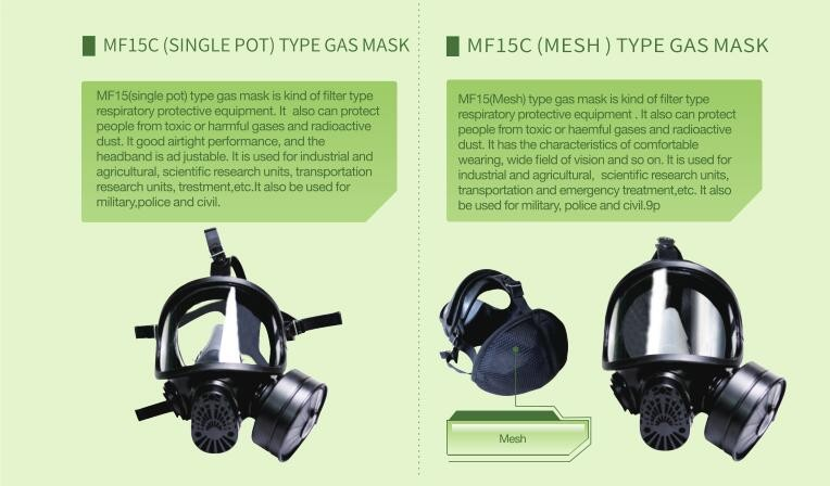 MF15 ELECTRONIC SPEAKER TYPE GAS MASK