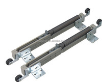 Door sliding hardware mechanism with running rollers