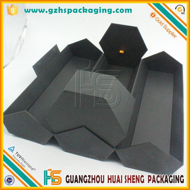 Special Hexagon Shape Cardboard Gift Box For Hair