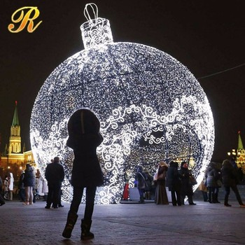 Giant Led Ball Electrical Christmas Ornaments For Holiday