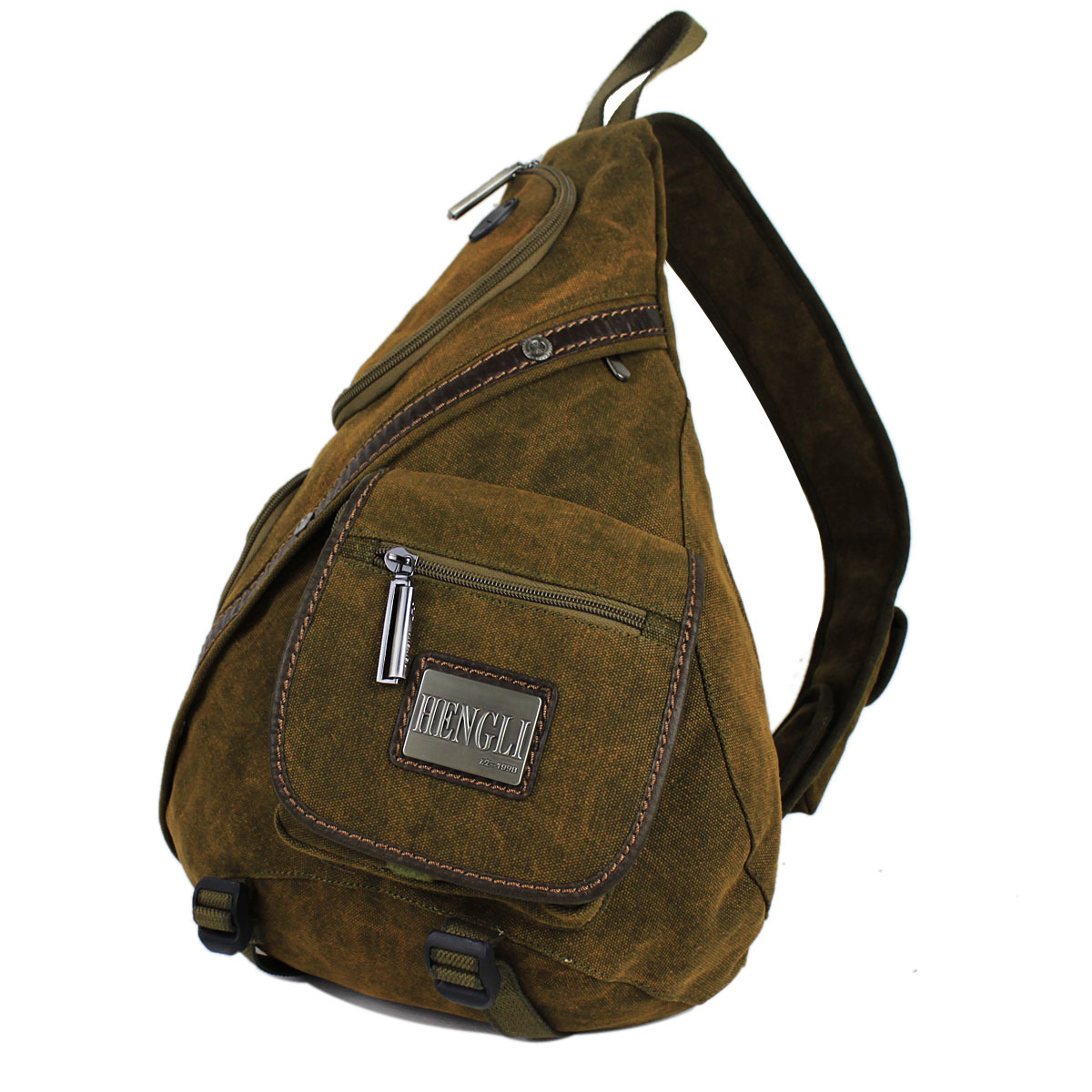 Henry canvas backpack chest pack multifunctional male one shoulder sports backpack large capacity outdoor backpack ride bag