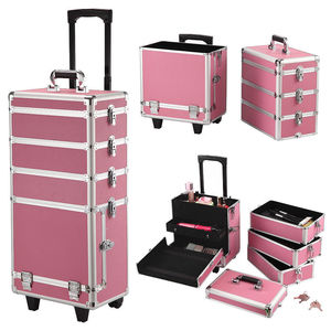 professional Hair Stylist Travel Train Rolling Trolley Beauty crying Case