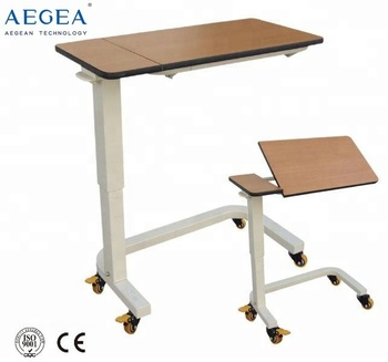 AG-OBT012 hospital medical height adjustable bedside tables