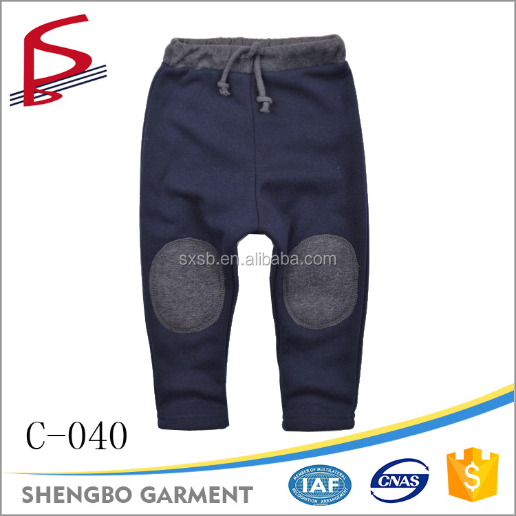 Wholesale factory children clothing pants fleece casual jeans