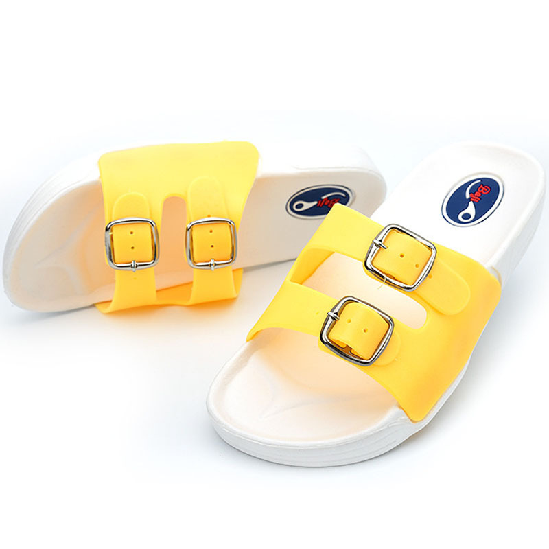 Summer Slippers Beach Shoes Fashion Casual Birkenstock Soft Female Pink Yellow Mixed