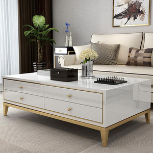 modern style stainless steel coffee table design luxury modern tempered glass top home goods white coffee tables
