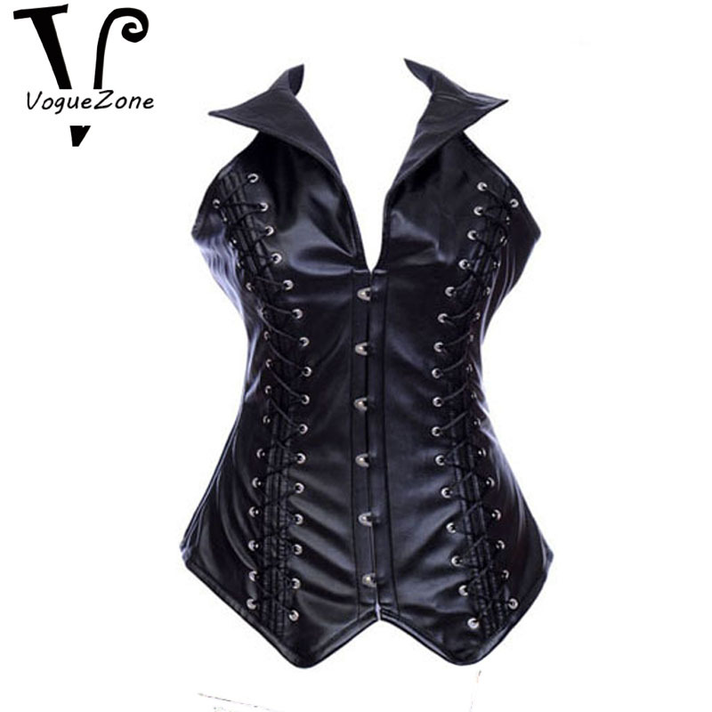 f26f419ea Get Quotations · Wholesale Black Red Steel Boned Gothic Leather Corset For  Women plus size steampunk corset
