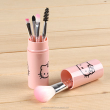 Hello Kitty 5pcs custom logo makeup brush makeup brush packaging with high quality