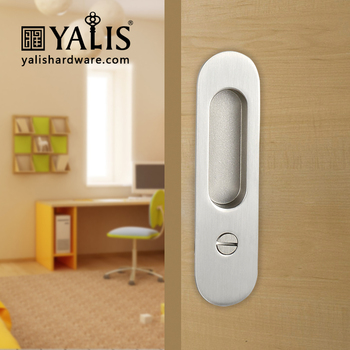 Yalis Door Hardware Sliding Door Handle Set And Door Lock With Key In Zinc  Alloy