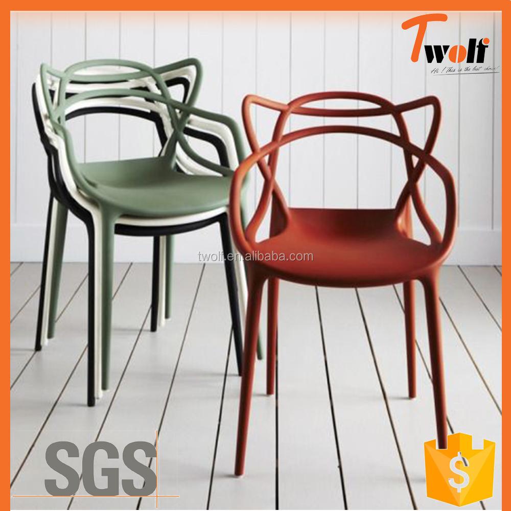 Dise o italiano blanco boda silla de pl stico sillas de for Sillas diseno italiano