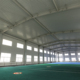 Large span prefabricated steel structure aircraft hangar with roofing