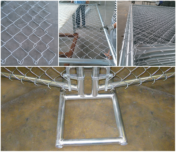Temporary construction fence chain link temporary fence for sale