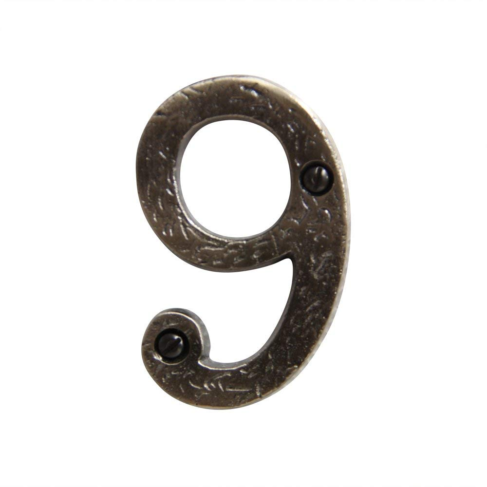 Tall RCH Hardware 8323AN75 Decorative 3 inch 3 Aged Antique Nickel Finish Iron House Number Numeral 75mm