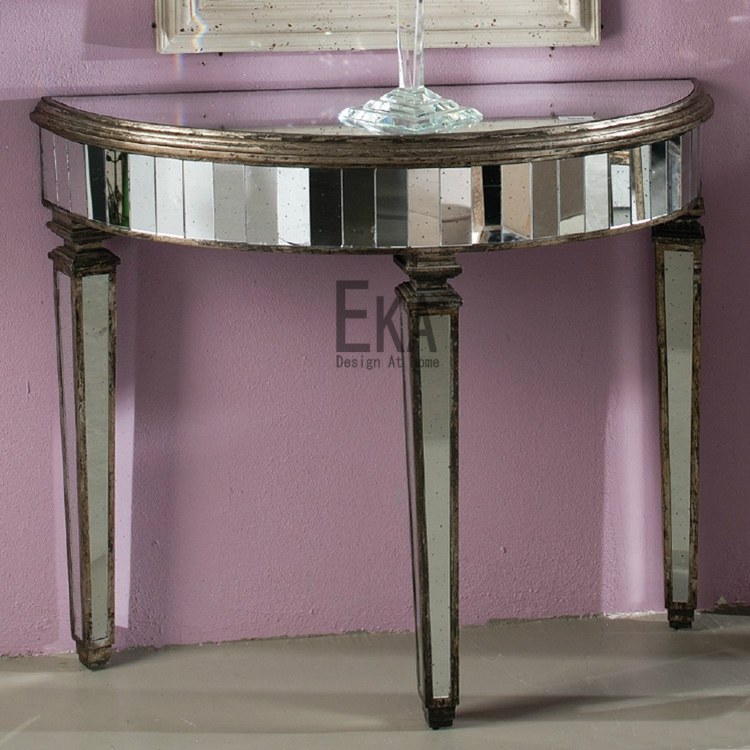 ekahome franz sisch rustikalen retro spiegel spiegel halbrund konsole artdeco in retro spiegel. Black Bedroom Furniture Sets. Home Design Ideas