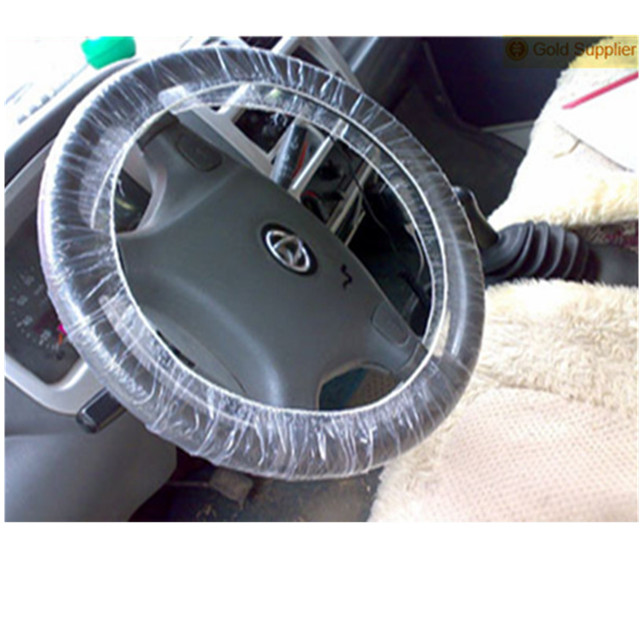 Wholesale Disposable Steering Wheel Covers Plastic Material Car Seat Cover Full Set Universal