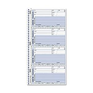 """Wholesale CASE of 20 - Rediform Two-Part Self-Stick Message Book-Self-Stick Messages, With Duplicate, 4/Sheet, 2-3/4""""x6""""Form"""