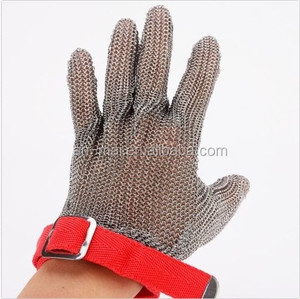 Factory direct supply stainless steel chain mail steel butcher glove meat processing