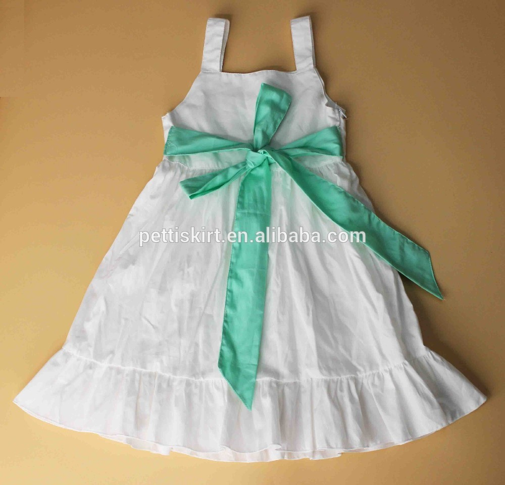 Latest Fashion Baby Clothes Plain Solid White Girls Dress Cotton ...