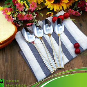 Customized Personalized Stainless Steel Ice Cream Gold Spoon Set
