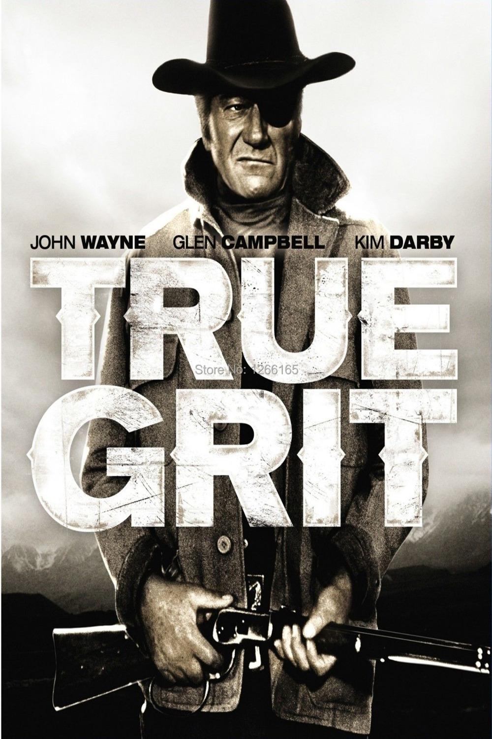 TRUE GRIT Movie Poster RARE John Wayne Western Print Silk poster Home Decoration 12x18 24x36 inch