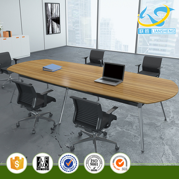 Elliptical Wood Panel Metal Frame Hotel Conference Table Buy Hotel - Elliptical conference table