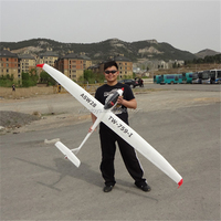 Lanyu Hobby 2.4Ghz 6CH ASW28 RC Glider 2.6M Wingspan Unibody Design RC Airplane Hobby Toys for sale