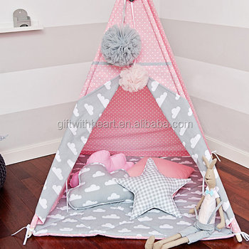 Teepee Tent kids Canvas Indoor Play Teepee Indian Tent & Teepee Tent Kids Canvas Indoor Play Teepee Indian Tent - Buy Kids ...
