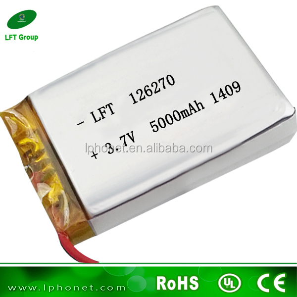 Lipo Battery 126270 3.7v Li-ion Polymer Battery 5000mah For Tablet ...