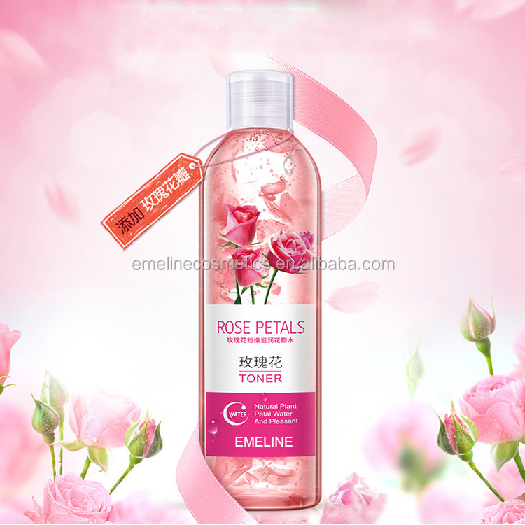 Wholesale OEM Natural Moisturizing Rose Petal Water Toner
