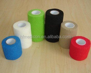 Nonwoven Horse Pet Care Sports Self Adhesive Colored Vet Wrap Elastic Bandage Buy Non Woven Adhesive Elastic