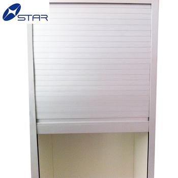Plastic Aluminum Cabinet Roll Up Door Shutter Door In