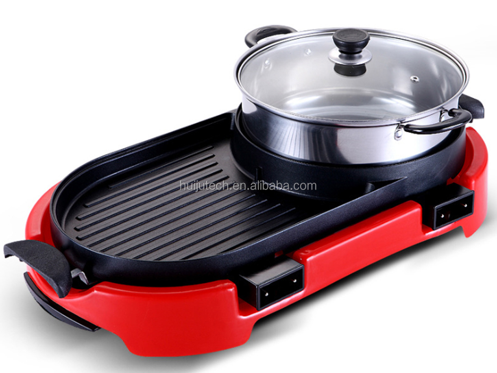 perfect bbq grill for fried tray with hot pot combined grill table HJ-BBQ002