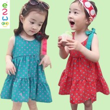 Alibaba New Products 2017 One Piece 100 Cotton Kids Party Dresses For Girls In Spanish