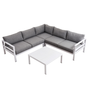 Garden Furniture European Patio Sleeper Aluminium Corner Lounge Outdoor Sofa Set