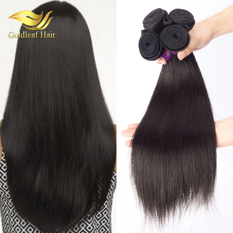 luxurious natural black factory wholesale 100 percent virgin 4 ounce human hair weave
