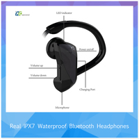 HT-U12 CSR8645 chipset bluetooth V4.1 waterproof IPX7 water resistant headphones for running with CE ROHS FCC for wholesale