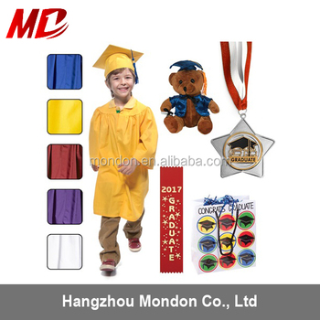 kindergarten children shiny finish graduation award set graduation