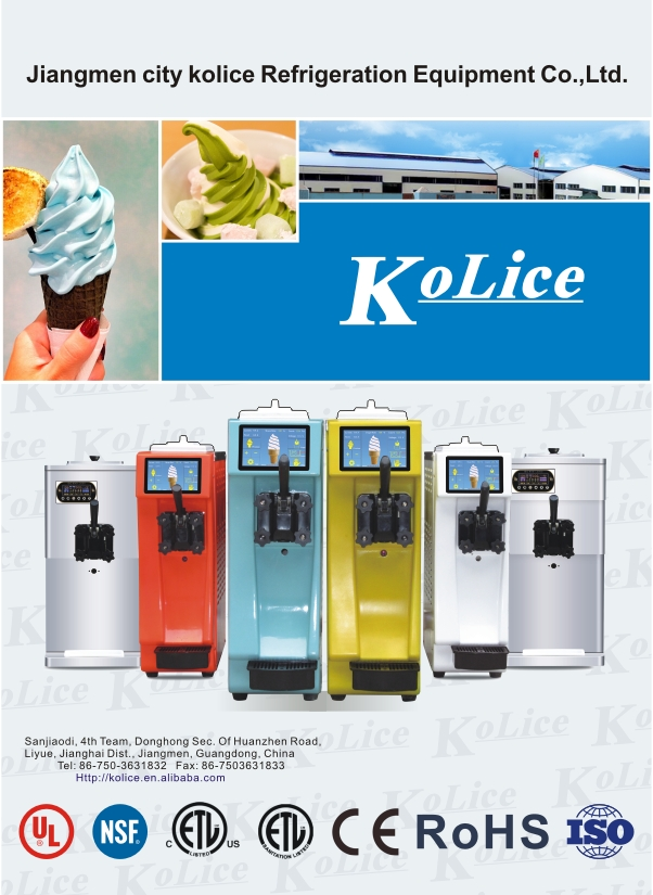 110V ETL NSF Kolice slim mini table top counter top desktop soft ice cream machine