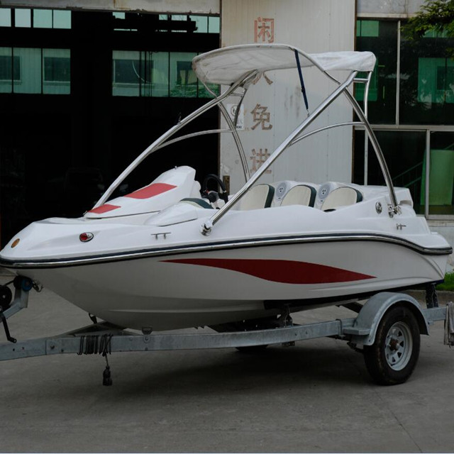 4 Passenger Small Fiberglass Fishing Speed Boats For Sale With Customized  Color - Buy Small Fiberglass Fishing Boat,Mini Speed Boats Sale,Passenger